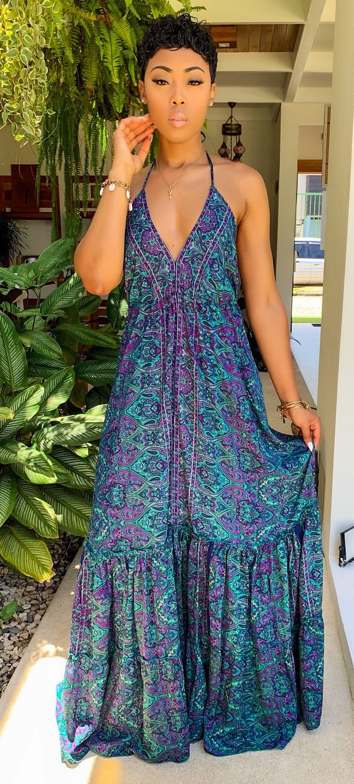 Namaslay Maxi Dress (Moonlight) - MuurSwagg