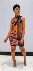 Neon Elektrik Dress (Orange) - MuurSwagg