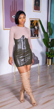 Load image into Gallery viewer, Regina Mini Dress (Taupe)
