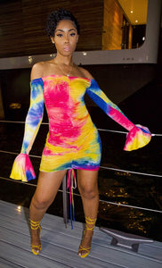 Kelis Mini Dress (Pink/Purple)