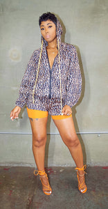 Cheetah Girl Shorts Set