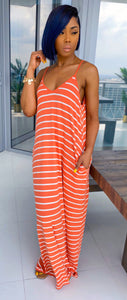 On Staycation Maxi Dress (Ash Cooper/Ivory) - MuurSwagg