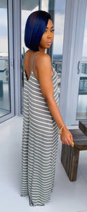 On Staycation Maxi Dress (Light Olive/Ivory) - MuurSwagg