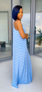 On Staycation Maxi Dress (Spring Blue/Ivory) - MuurSwagg