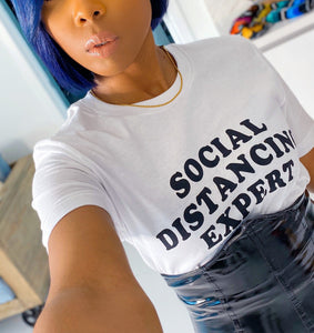 The Social Distancing Expert Top (White) - MuurSwagg