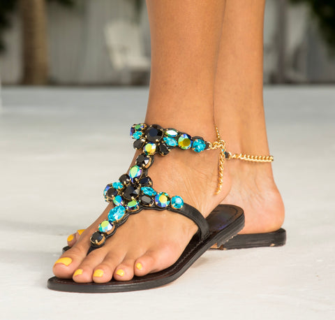 Onyx Jewel Sandals - MuurSwagg