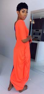 Split Decision Maxi (Neon Orange/Purple) - MuurSwagg