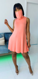 Mask Off Dress (Coral) - MuurSwagg