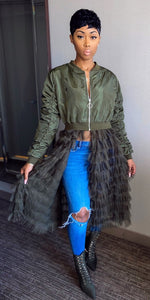 Ruffling Feathers Jacket (Olive)