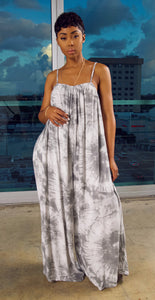 CasaBlanca Jumpsuit (Grey Tie Dye)