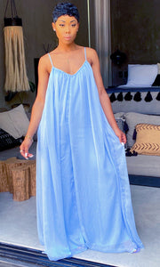 The Getaway Jumpsuit (Light Blue) - MuurSwagg