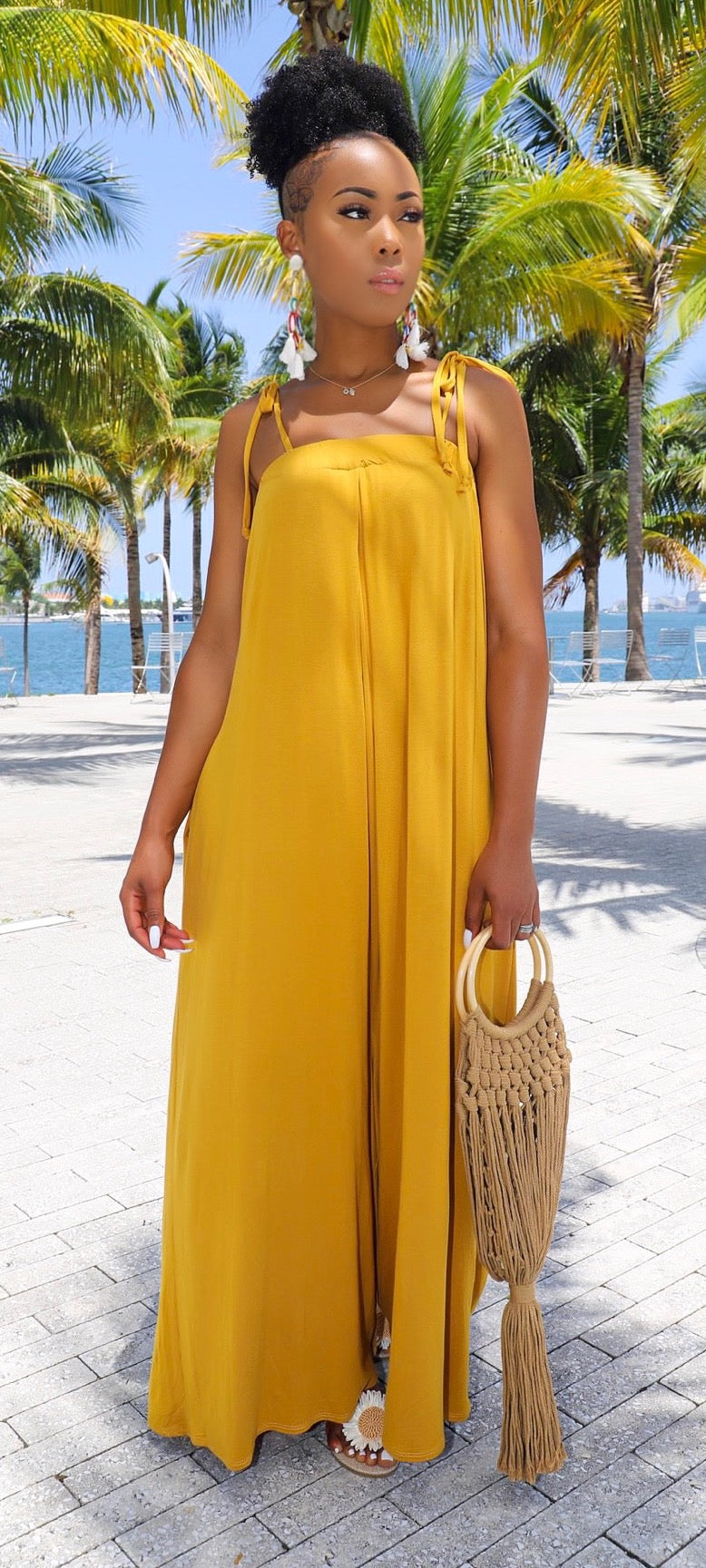 Let It All Hang Jumpsuit (Mustard) - MuurSwagg