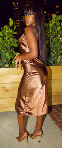 Desire Me Mini Dress (Brown)