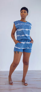 Deja Shorts Set (Denim Blue)