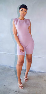 No Attachments Romper (Dark Mauve)