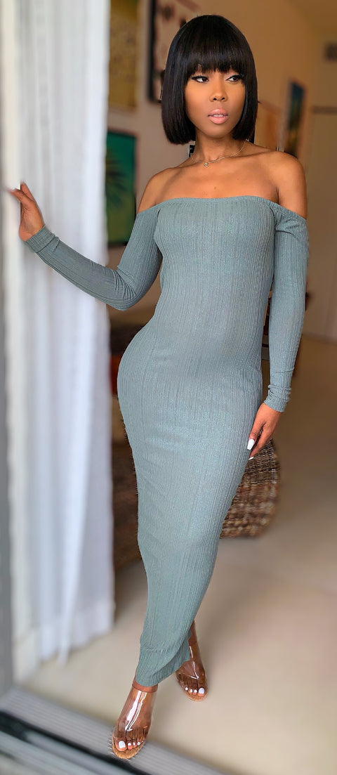 All Or Nothing Dress (Olive) - MuurSwagg