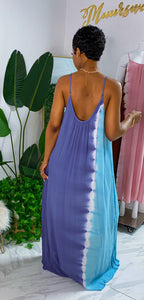 Cali Maxi Dress (Lt. Blue Combo) - MuurSwagg