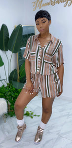 The Vibe Romper (Olive Stripe) - MuurSwagg