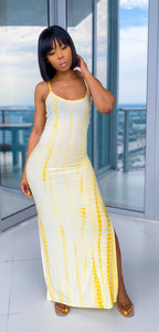 Jasmine Maxi Dress (Yellow) - MuurSwagg