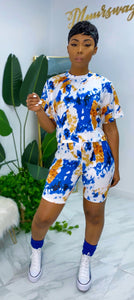 Rouge Shorts Set (Blue) - MuurSwagg
