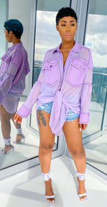 Life Is Good Shirt Dress (Lavender) - MuurSwagg