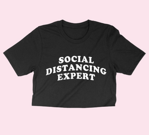 The Social Distancing Expert Top (Black) - MuurSwagg