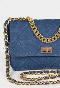 Craving Denim Clutch Bag