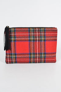 So Plaid Out Clutch