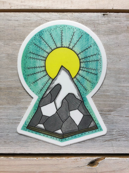 Hailey Morgan Art sticker - sunrise peak