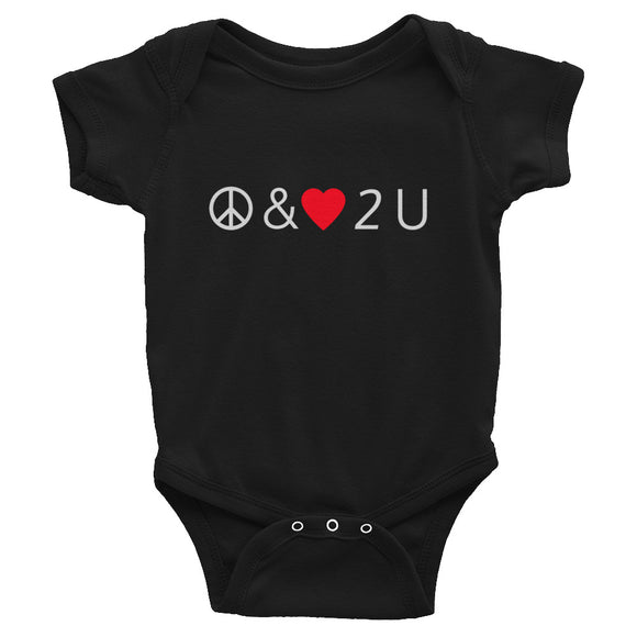Peace & Love Baby Onesie