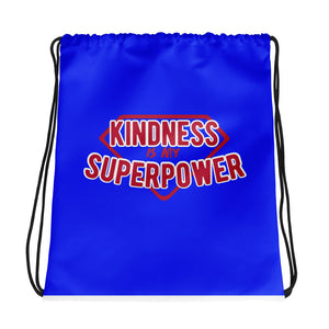 Kindness Is My Superpower Drawstring Bag