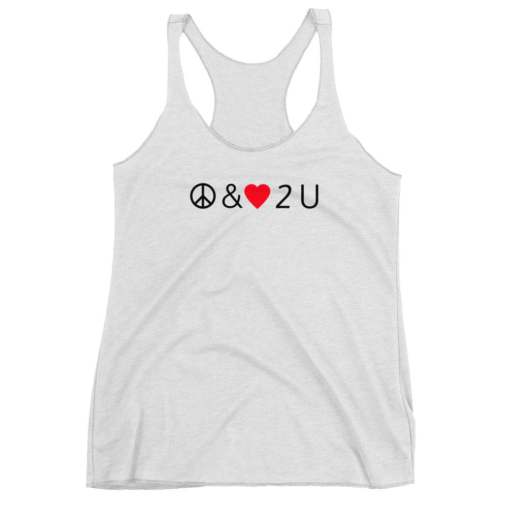 Peace & Love Women's Racerback Tank