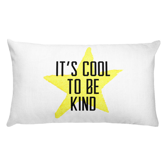 It's Cool to be Kind Rectangular Pillow