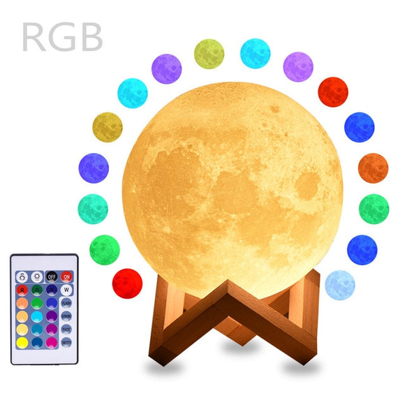 Mystical Moon Lunar Lamp - 16 Color Remote Control