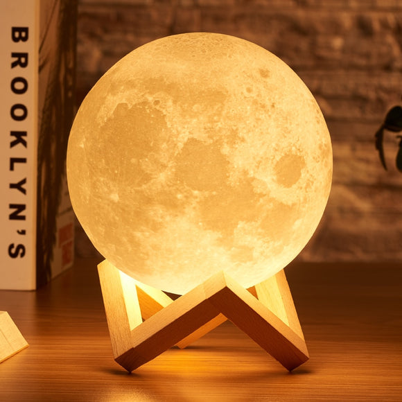 Mystical Moon Lunar Lamp - 2 & 3 Color Tap Control