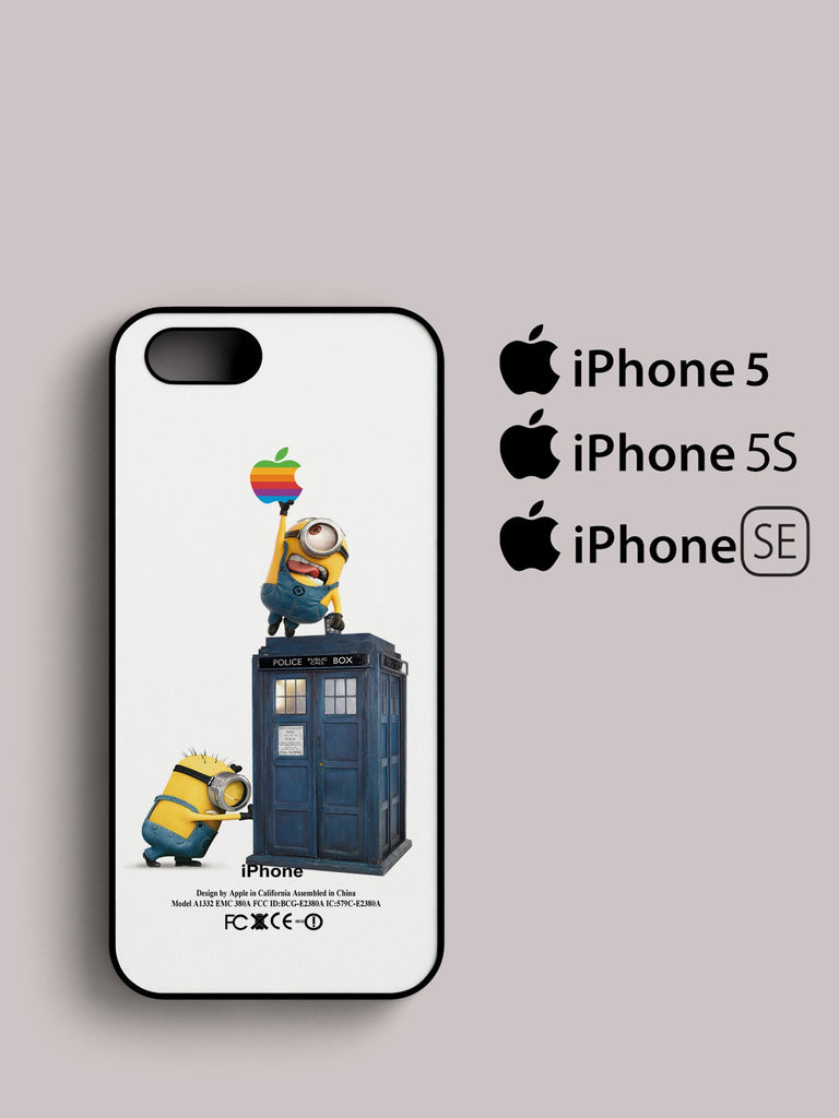 Despicable Me Minion Catch Apple Logo In Dr Who iPhone 5, 5S, SE ...