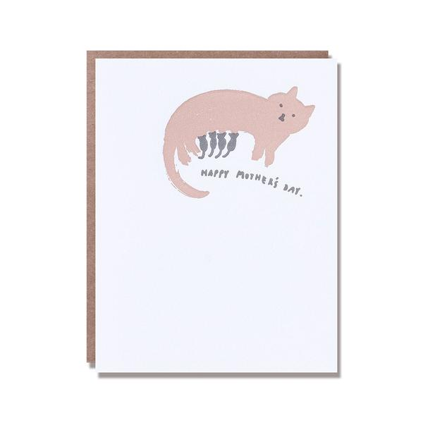 Cat-n-Kittens Mother's Day Card