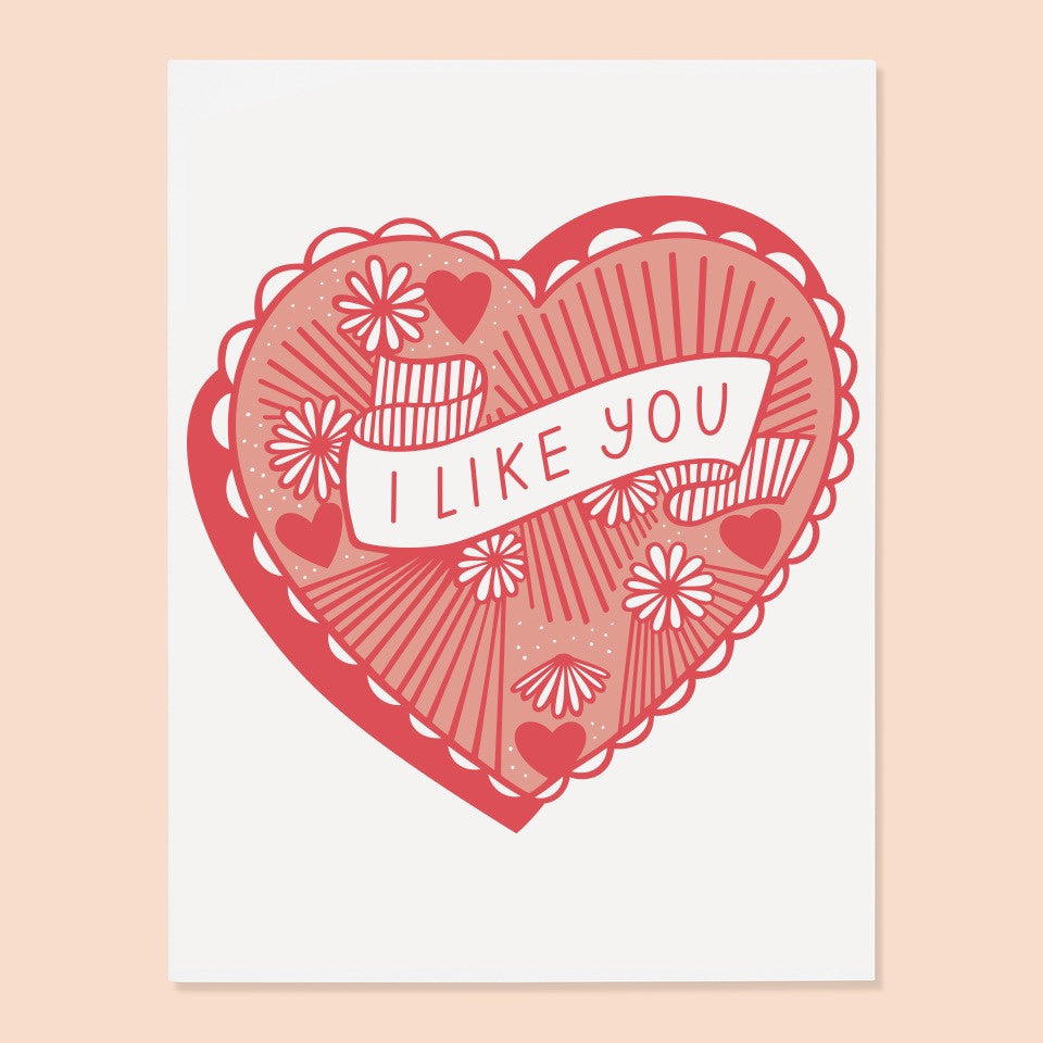 I Like You Card