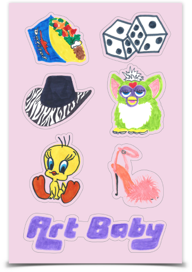 Pink Sticker Sheet