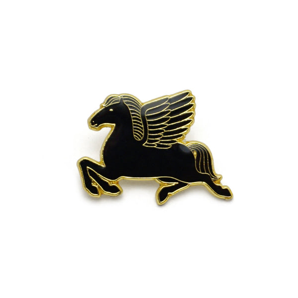 Pegasus Enamel Pin - Black