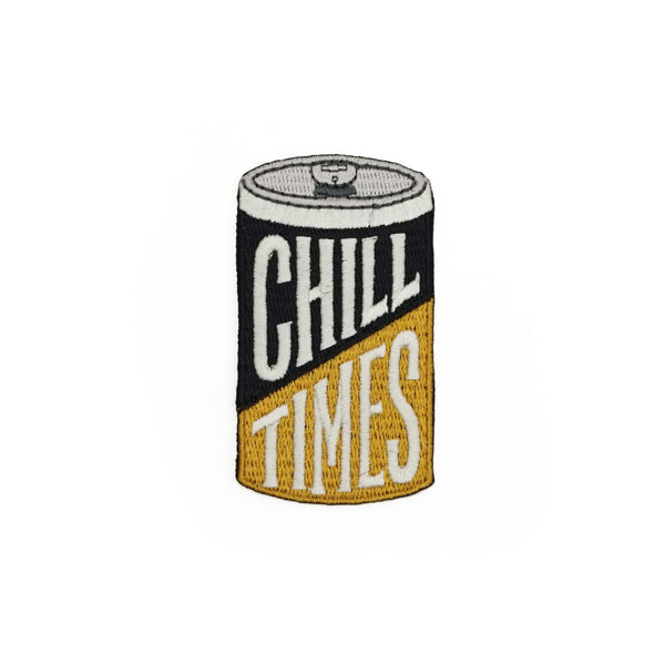 Chill Times Beer Can Embroidered Patch