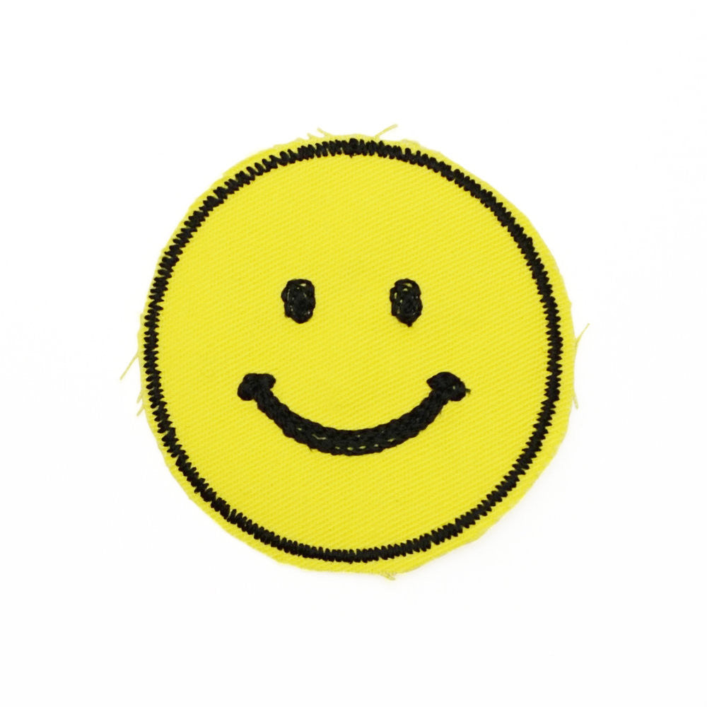 Smiley Face Embroidered Patch