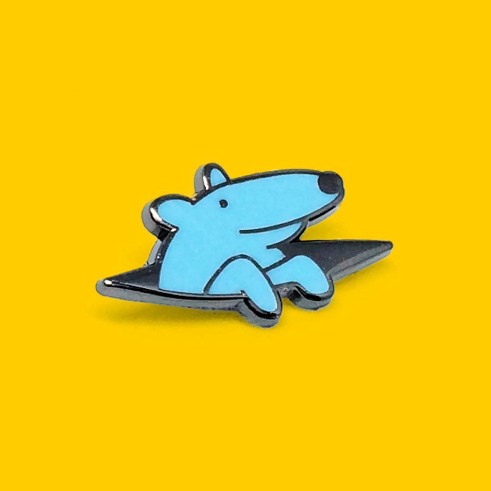 Peeking Pup Pin