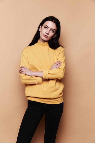 Mock Neck Sweater - Mustard
