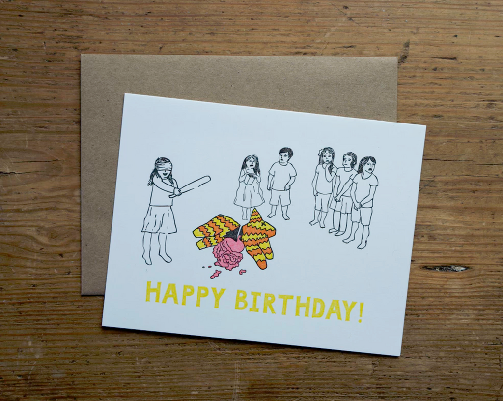 Pinata Birthday Card