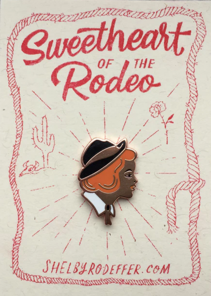 Sweetheart of the Rodeo Copper Cloisonné Pin