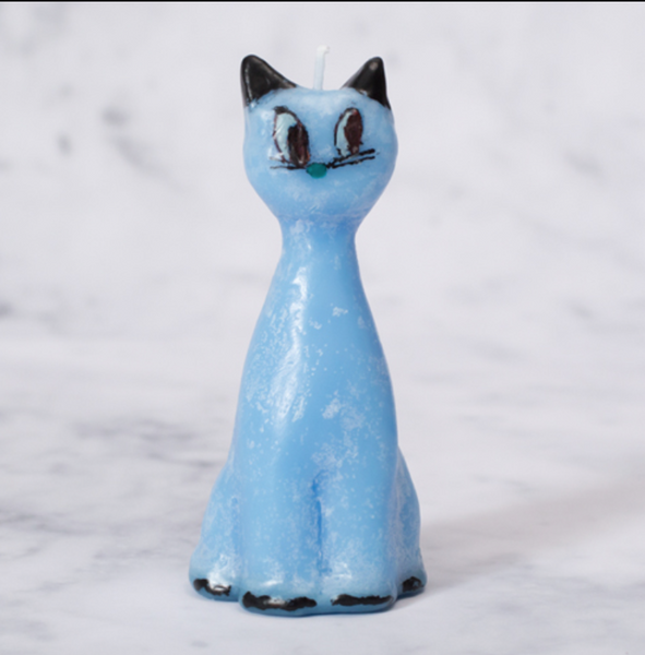 Blue Cat candle