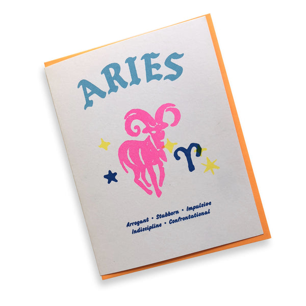 Negative Zodiac Card - Aries