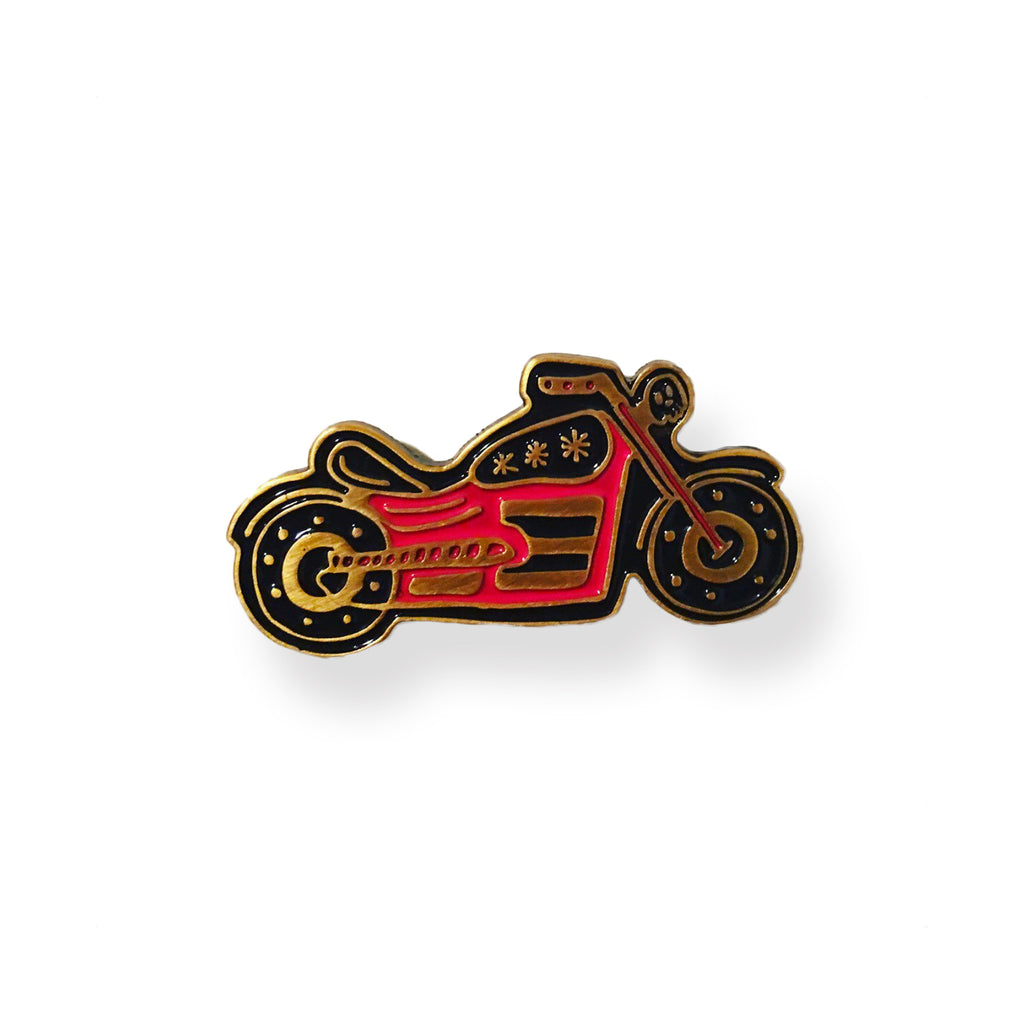 Red Motorcycle Pin