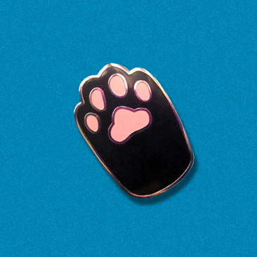 Cat Paw Hard Enamel Pin